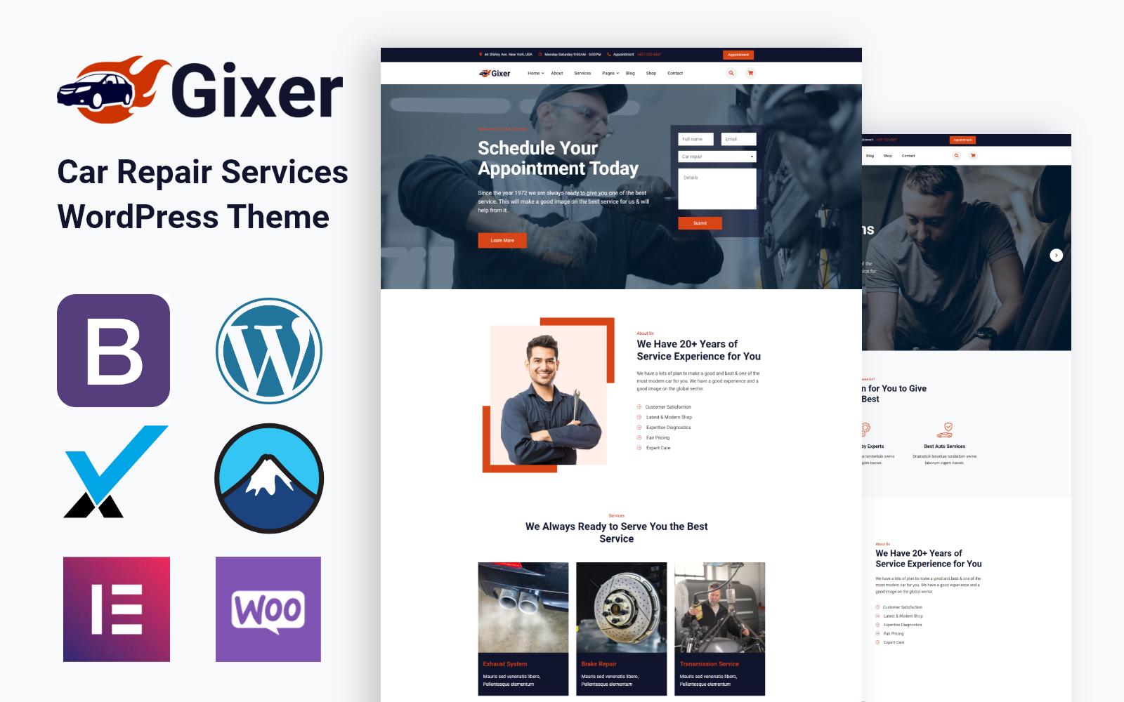 Gixer | Auto Repair and Car Service WordPress Theme