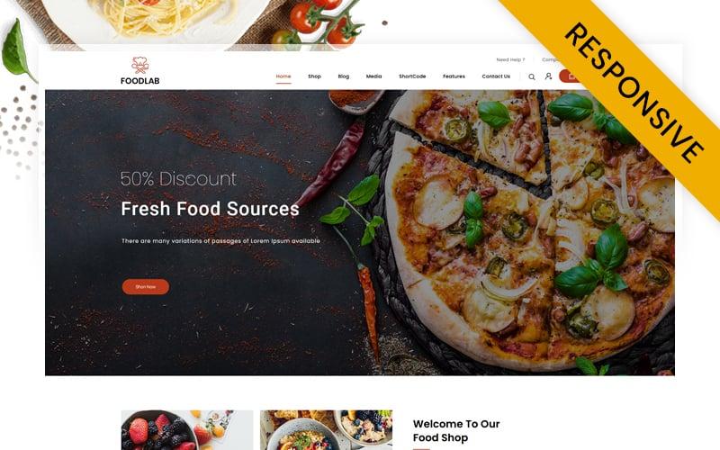 "Modello WooCommerce Responsive #145598 ""FoodLab - Restaurant Food Store"""