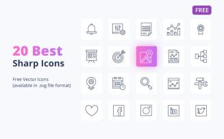 20 Free Best Sharp Icons Set