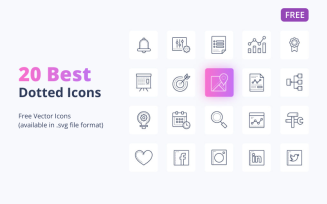 20 Free Dotted Icons Set