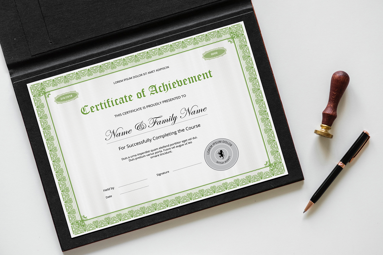 Sistec Achievement Certificate Template 145740