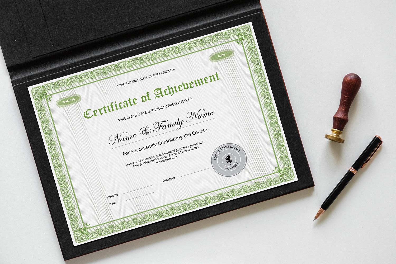 Szablon certyfikatu Sistec Achievement #145740