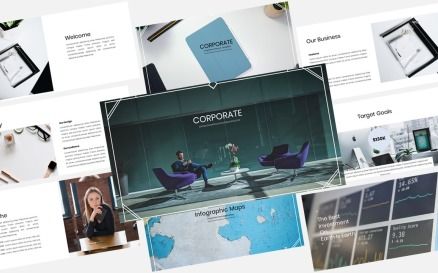 Corporate Planner - Creative Business Plan PowerPoint Template