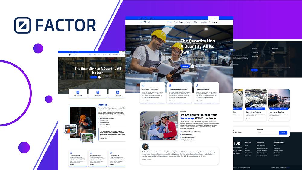 Factor - Industry & Factory HTML5 Website Template