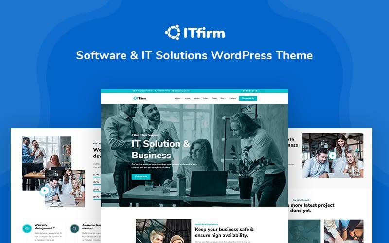 ITfirm - Software and IT Solutions Responsive WordPress Theme Tema WordPress №146029