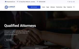 LawGit Law, Lawyer & Attorney WordPress Theme