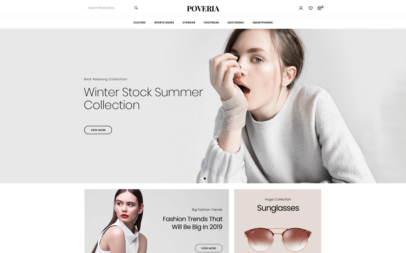 Poveria - Fashion Accessories Stores Tema PrestaShop №146487