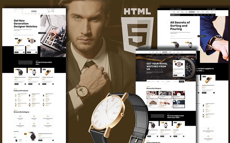 "Template Siti Web Responsive #146482 ""Dorox Luxurious Accessories"""