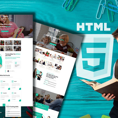Tutorly Online Courses & Education Website Template #146484