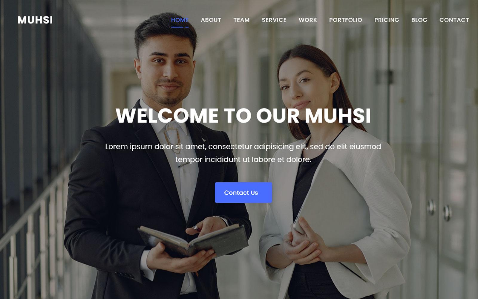 """""""Al-Muhsi Multipurpose One Page"""" - адаптивний Шаблон цільової сторінки №146668"""