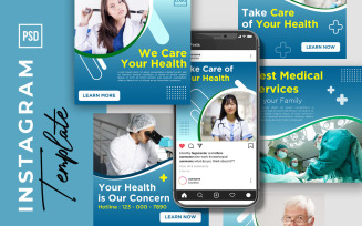 Instagram Post And Story Medical Service Template for Social Media