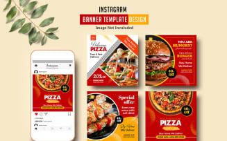 Restaurant Instagram Promotional Banner Social Media Template