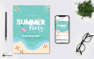 Summer Party - Flyer AS - Corporate Identity Template