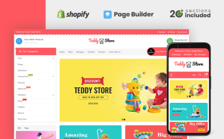 Teddy Toys and Clothing Store Shopify Theme