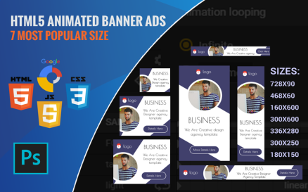Agency - HTML5 Ads Template Animated Banner