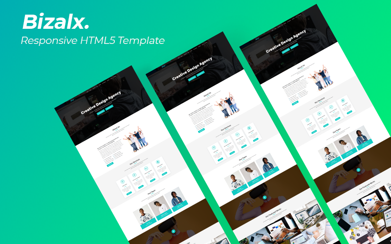 Bizalx - Responsive Landing Page Template