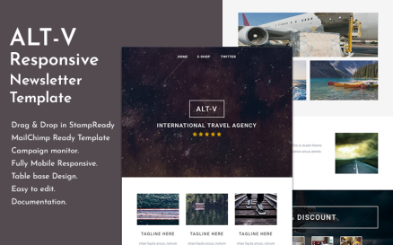 Altv - Travel Responsive Email Newsletter Template