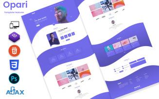 Opari-Creative Personal Portfolio Landing Page Template