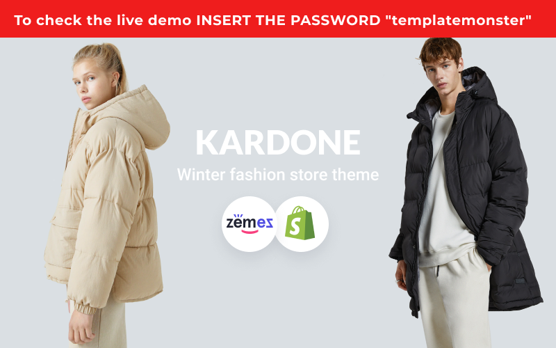 """KarDone - Winter Fashion Store"" 响应式Shopify模板 #146799"
