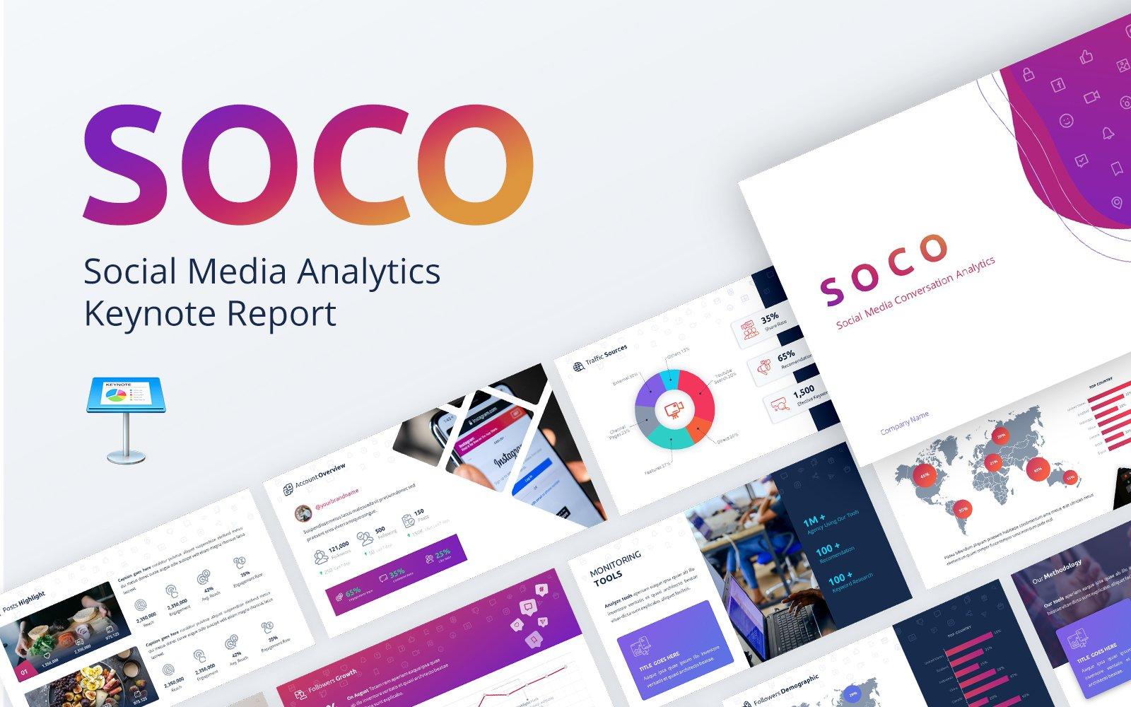 """Modello Keynote #146783 """"SOCO - Social Media Analytics"""""""