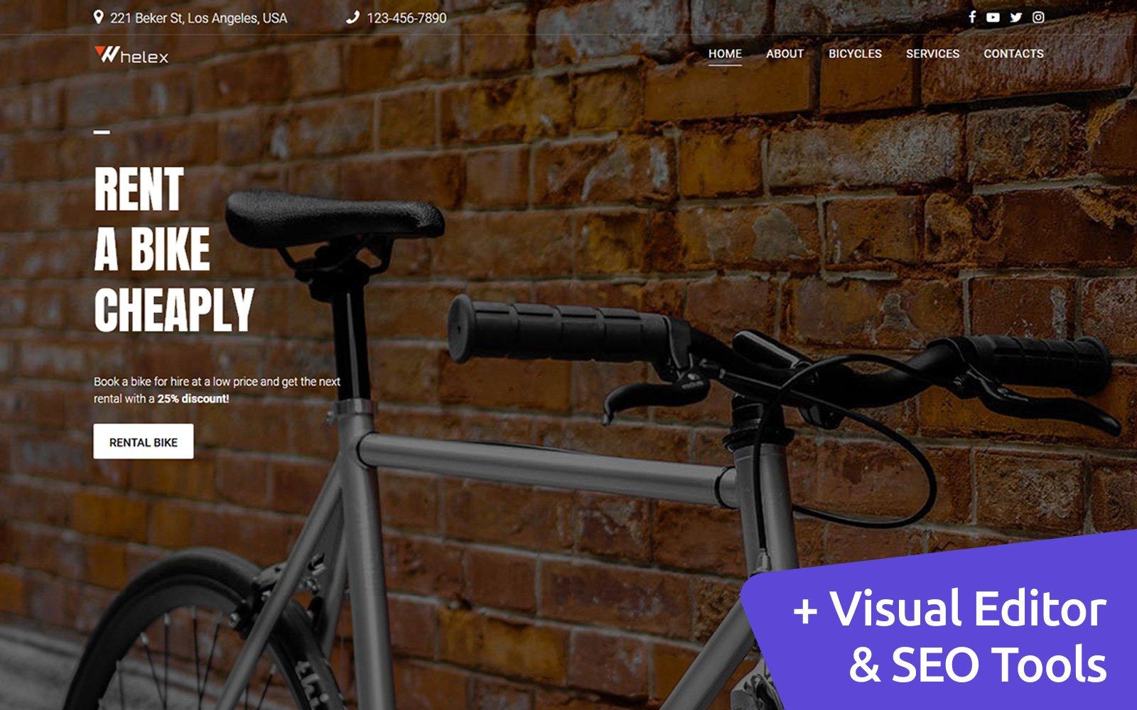 "Plantilla Moto CMS 3 ""Whelex - Bike Rent"" #146798"