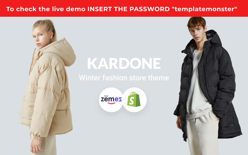 """Responzivní Shopify motiv """"KarDone - Winter Fashion Store"""" #146799"""
