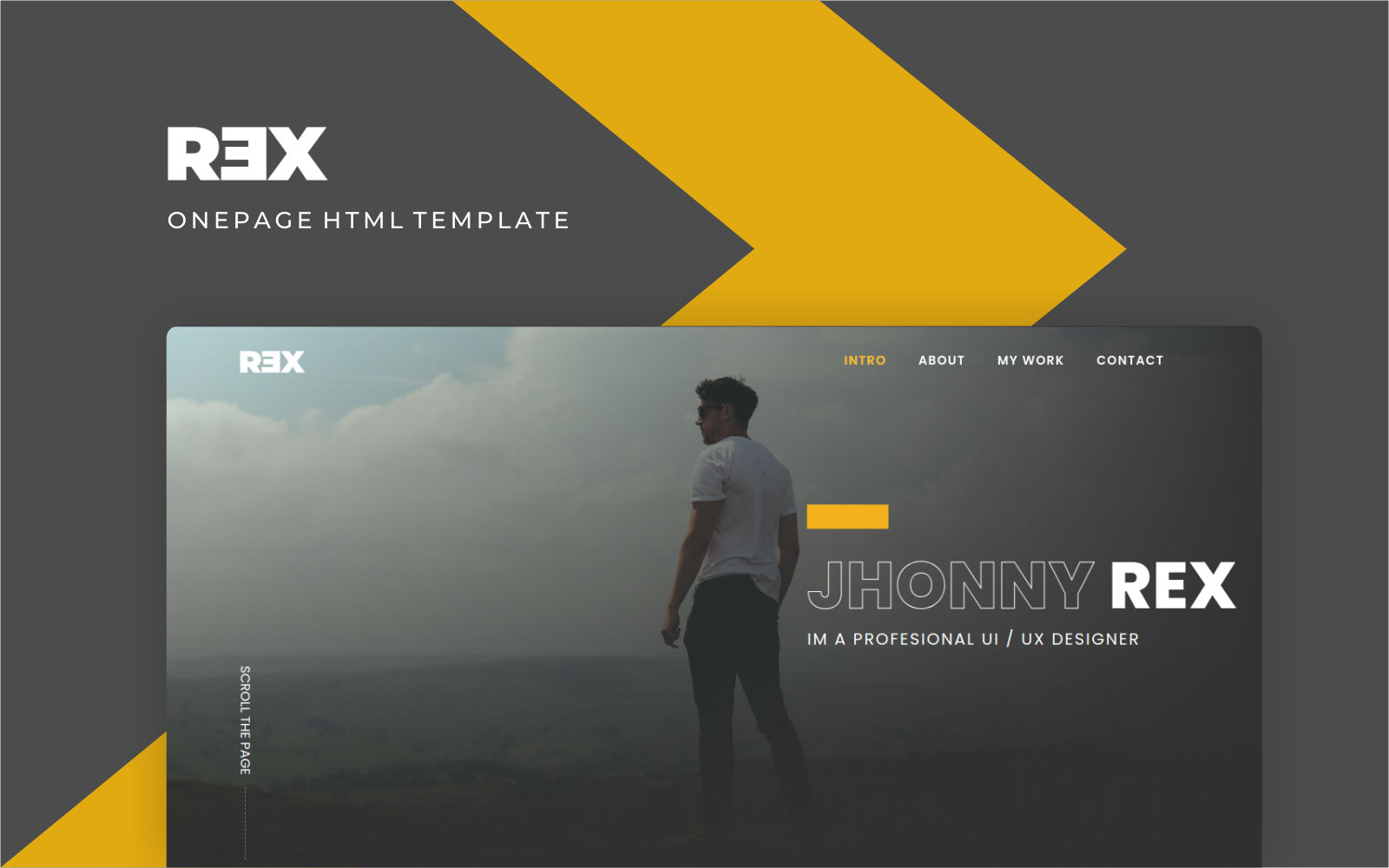 """Rex - Creative Personal Multipurpose Portfolio"" Responsive Landingspagina Template №146792"