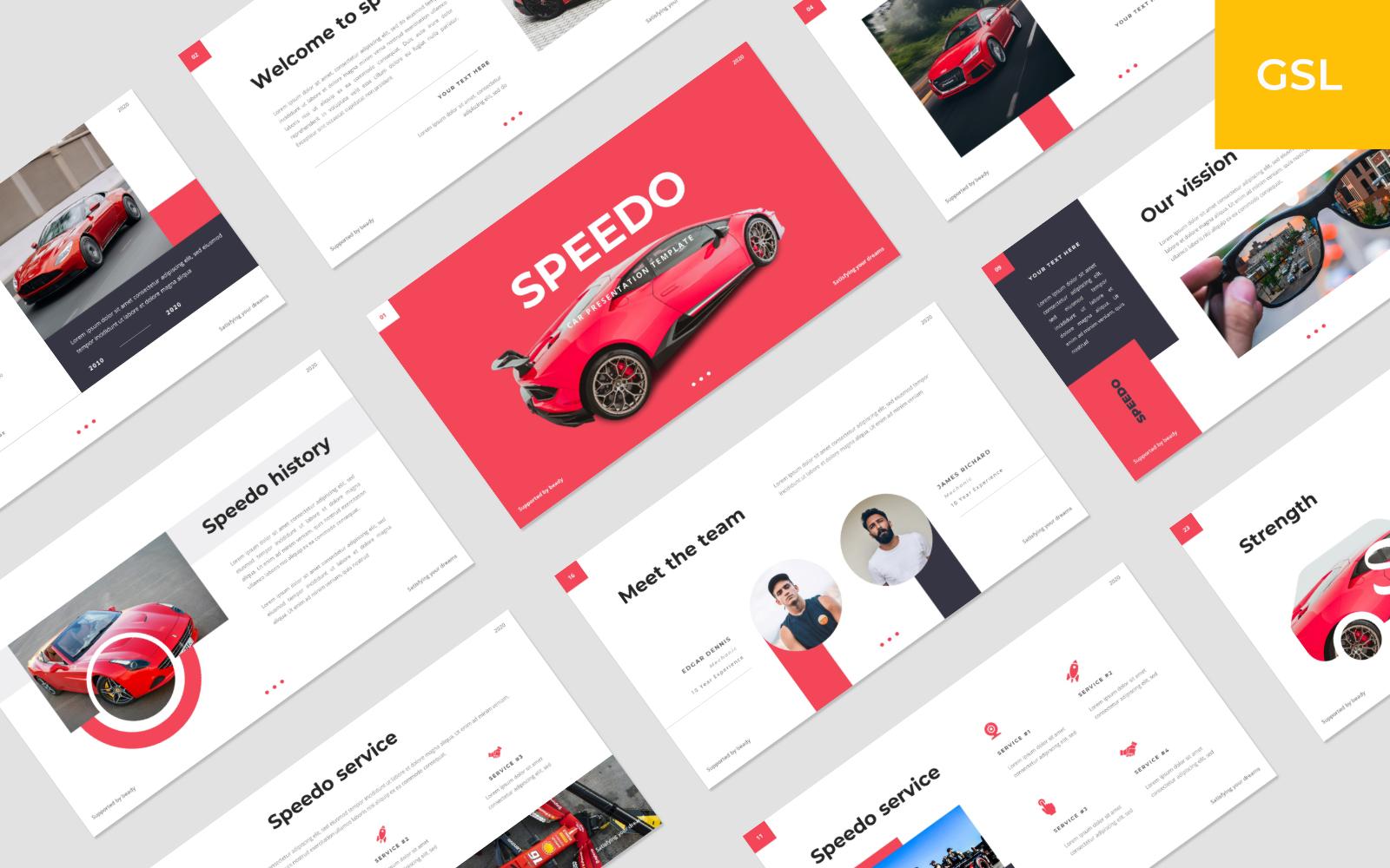 """""""Speedo - Car Google Slides"""" Google Slides №146723"""
