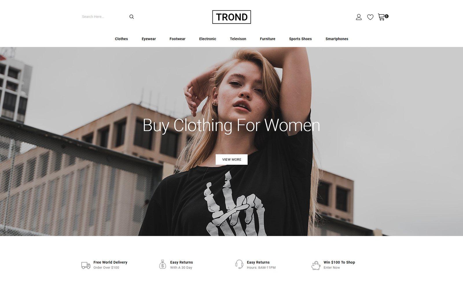 """Trond - Fashion Designer Store"" - адаптивний PrestaShop шаблон №146797"