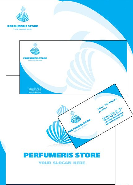 Cosmetics Store Corporate Identity Template Vector Corporate Identity preview