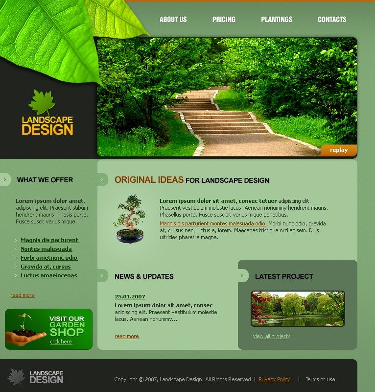 Pest Control Web Design Templates