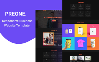 Peraone - Responsive Business HTML5 Website Template