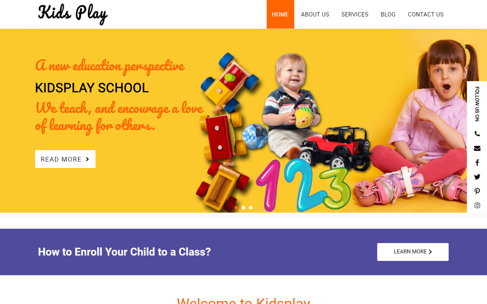 Kids Play - Education WordPress Theme