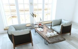 Yak armchairs set 3D Model