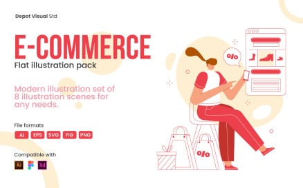 E-commerce Flat Illustration Pack