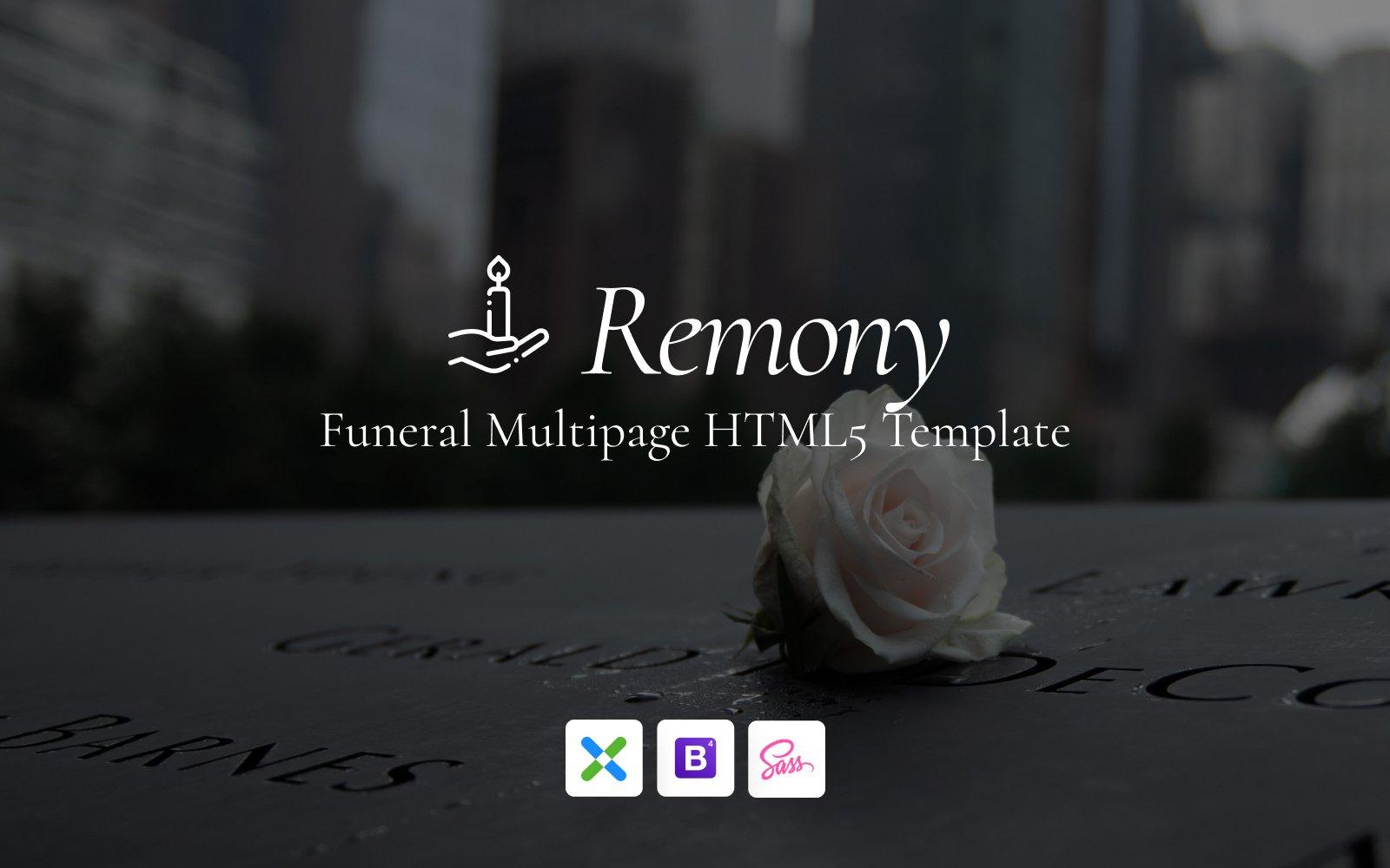 """Remony - Funeral Home Responsive"" - адаптивний Шаблон сайту №147692"