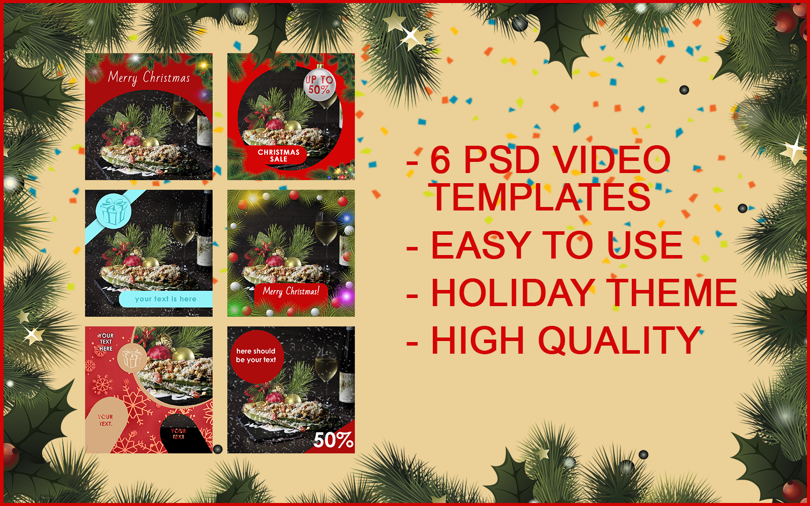 """""""6 VIDEO TEMPLATES FOR INSTAGRAM"""" PSD Template №147693"""