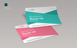 Landscape brochure mockup design template product mockup