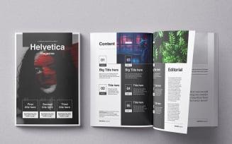 Helvetica Magazine Template