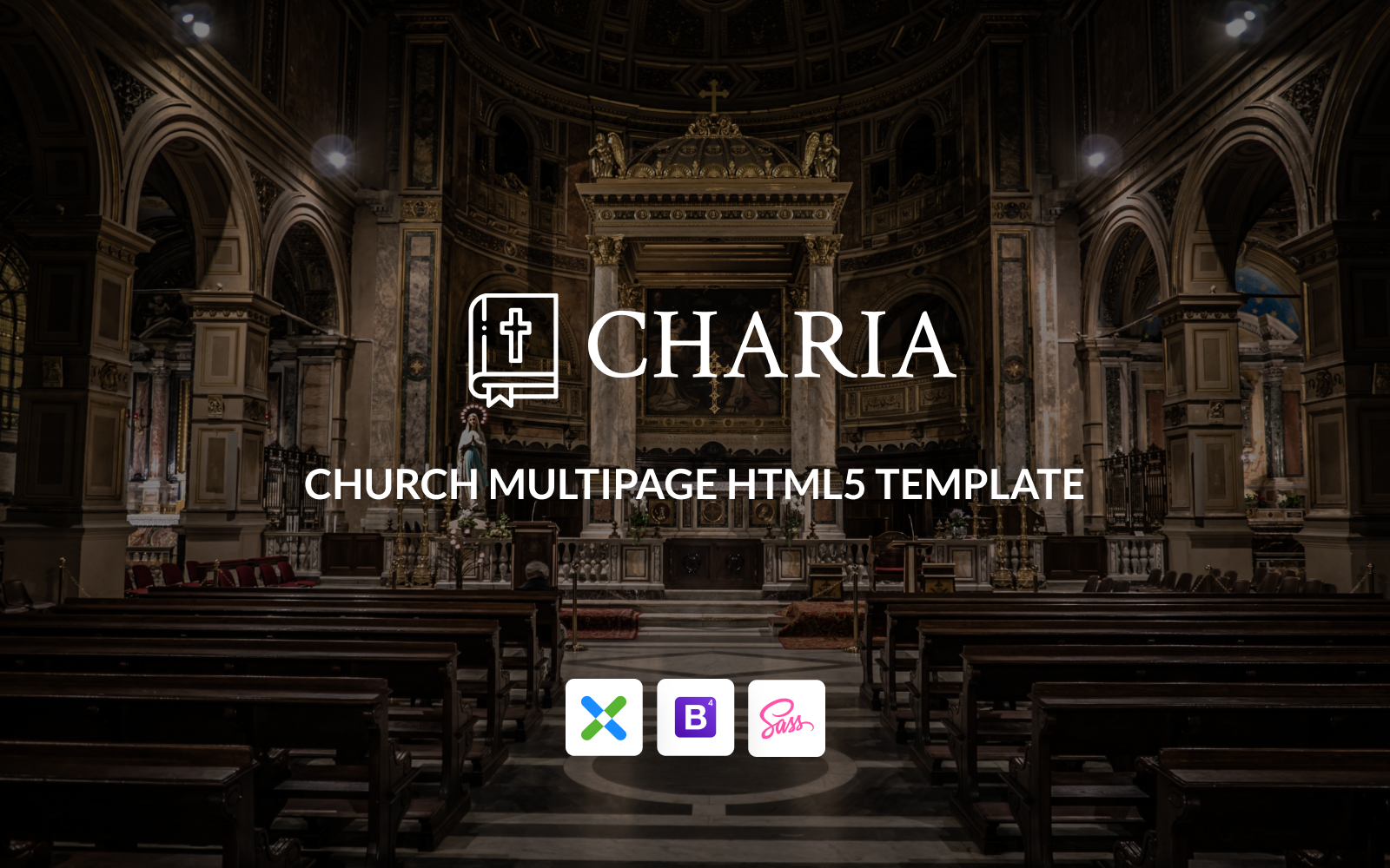 """Charia - Modern Church HTML5"" Responsive Website template №148415"