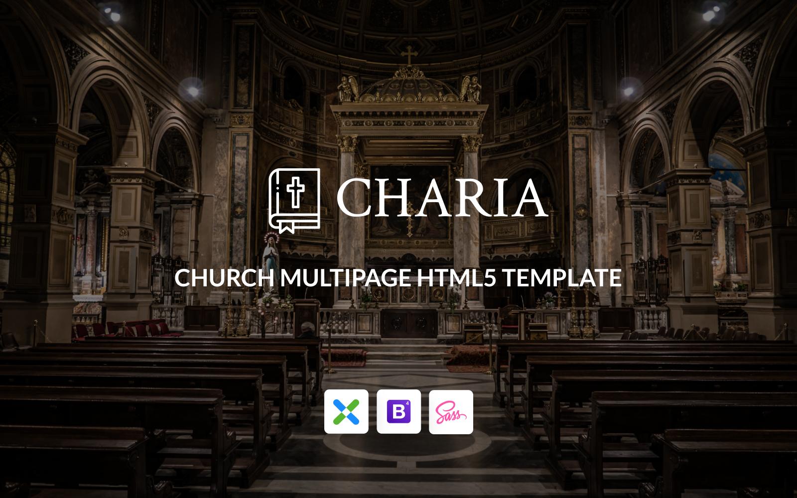 Responsivt Charia - Modern Church HTML5 Hemsidemall #148415