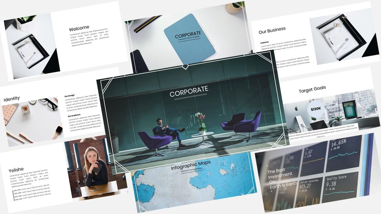 "Template Keynote #148462 ""Corporate Planner - Creative Business Plan"""