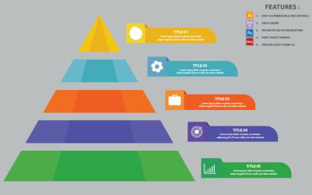 Pyramid Vector Design Infographic Element