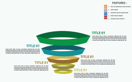 Business Funnel Vector Design Infographic Element