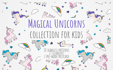 Magical Unicorns Collection Pattern