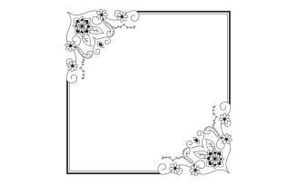 Doodle Flower Frame