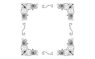 Floral Hand Drawn Frame