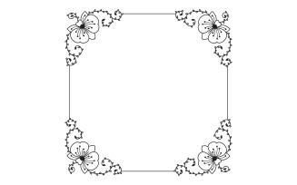 Floral Artistic Frame