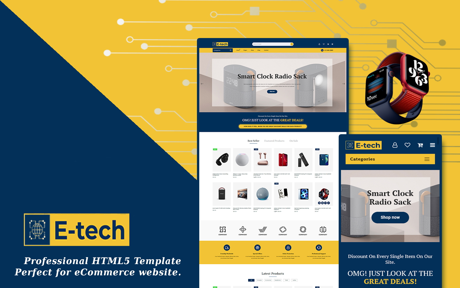 E-Tech - Multipurpose eCommerce Website Template