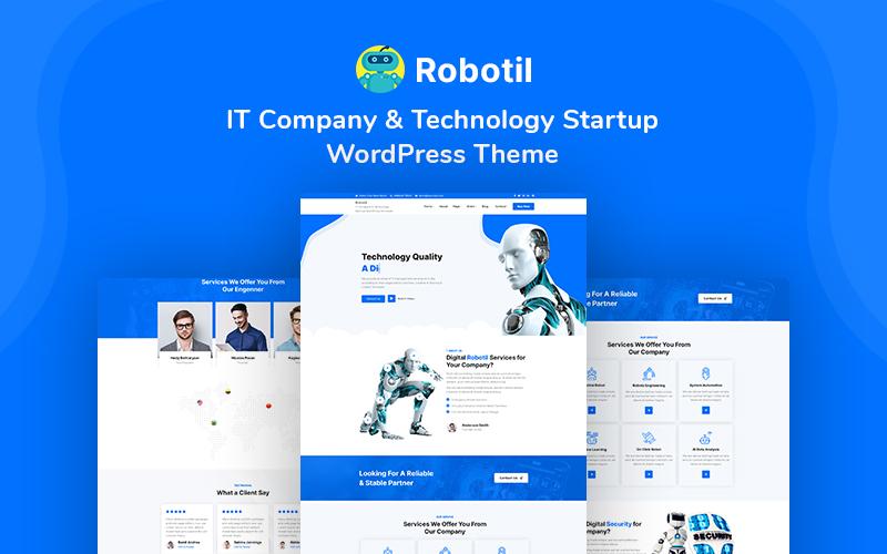 Reszponzív Robotil - IT Company & Technology Startup WordPress sablon 148684